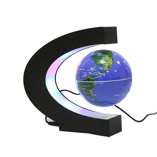 Shop Levitation Blue Globe with LED Lights C Shape Magnetic Floating World Map - Aliens Poop