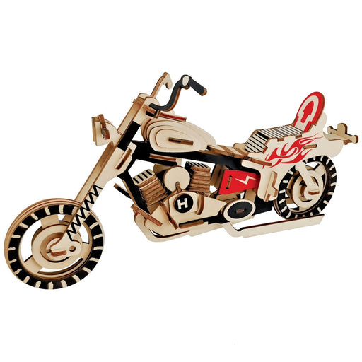 Shop Natural Wood 3D Puzzle Chopper Motorcycle Wooden Jigsaw Craft Building Set - Aliens Poop