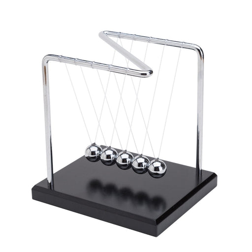 "Shop Metal Z Shape 6"" Newton's Cradle with Wood Base - Aliens Poop"