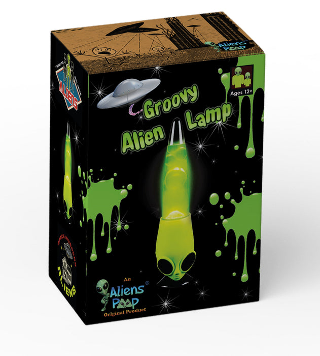 Shop Alien Lava Lamp UFO Groovy Motion Alien Lamp - Aliens Poop