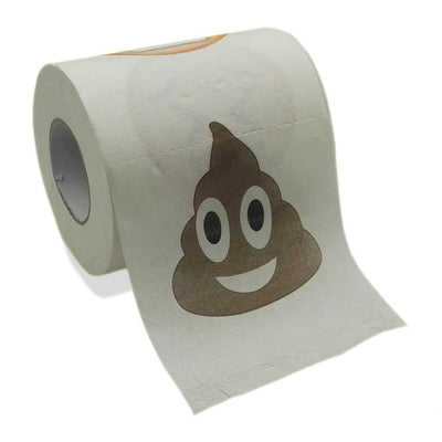 Emoji Toilet Paper Roll - Emoticon 3 Ply Joke Tissue Paper - Funny Prank Novelty Gag-Aliens Poop