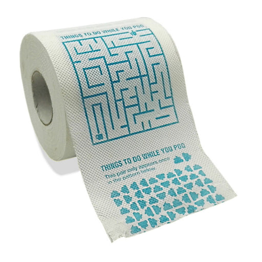 Shop Games Toilet Paper Roll - 3 Ply Joke Tissue Paper - Funny Prank Novelty Gag - Aliens Poop