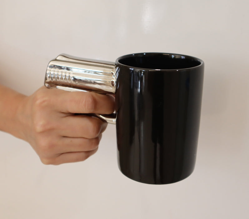 Shop Pistol Coffee Mug, 12 oz Ceramic Coffee Mug - Aliens Poop