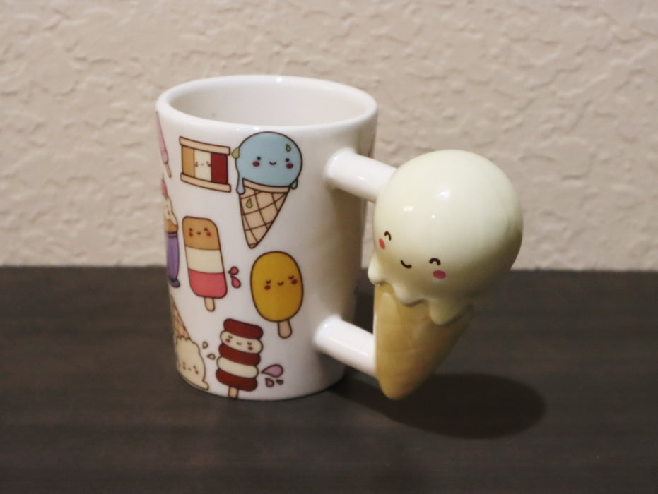 Shop Ice Cream Cone Handle Coffee Mug, 12 oz - Aliens Poop
