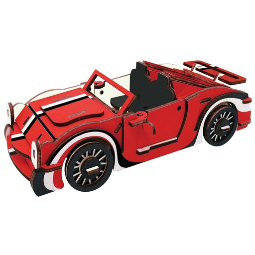 Shop Natural Wood 3D Puzzle Convertible Sport Car Wooden Jigsaw Craft Building Set - Aliens Poop