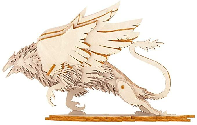 Natural Wood 3D Puzzle Griffin Wooden Jigsaw Craft Building Set