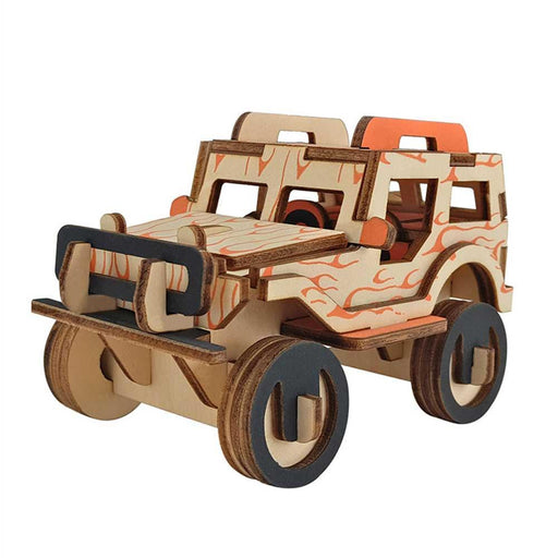 Shop Natural Wood 3D Puzzle Jeep Off Road Wooden Jigsaw Craft Building Set - Aliens Poop