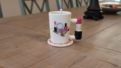Shop Lipstick Handle with makeup print Coffee Mug, Tea, Hot Chocolate - Aliens Poop