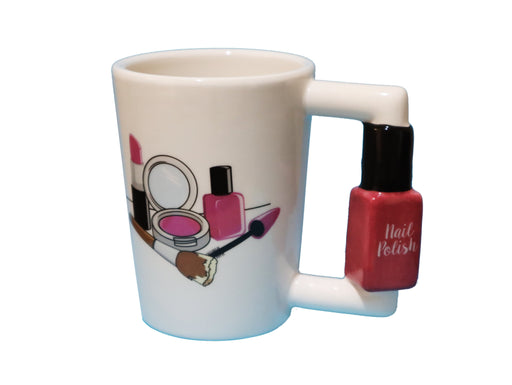 Shop Nail Polish Handle with Makeup Print Coffee Mug, 12 oz - Aliens Poop