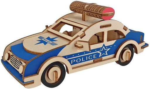 Shop Natural Wood 3D Puzzle Police Patrol Car Wooden Jigsaw Craft Building Set - Aliens Poop