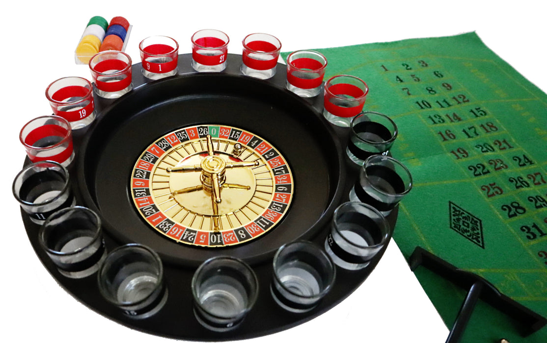 Shop Roulette Drinking Game 16 Glass Shots for Party - Aliens Poop