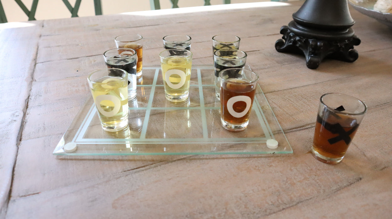 Shop Tic Tac Toe Glass Drinking Game for Party - Aliens Poop