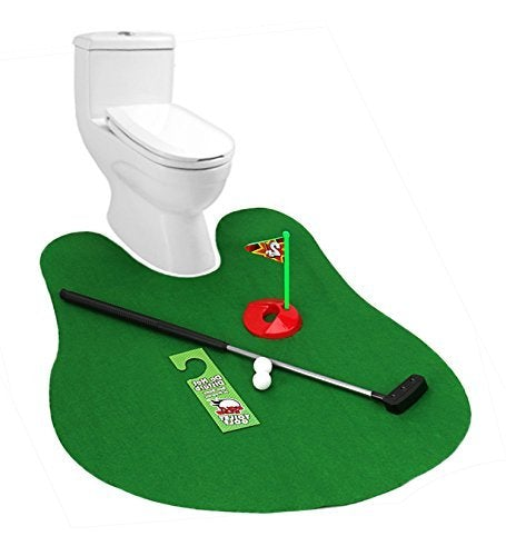Shop Toilet Golf Potty Time Putter Game - Funny Gifts for Adults Men Dad -Bathroom Mini Golf set - Pranks Joke Present - Aliens Poop