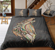 Wolf Head Zentangle Stylized Ornate Lace Duvet Cover Bedding Set