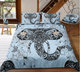 Lotus Elephant Head Zentangle Stylized Ornate Lace Duvet cover Bedding Set