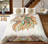 Lion Head Zentangle Stylized Ornate Lace Duvet Cover Bedding Set - Bohemian Shrine