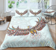 Eagle Zentangle Stylized Ornate Lace Duvet Cover Bedding Set