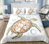Turtle Floats in Depth of the Sea Bubbles Silhouette Bedding Set - Bohemian Shrine