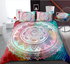 Abstract Colorful Galaxy Mandala Flower Duvet Cover Sets - Bohemian Shrine
