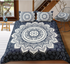 Indian Passion Mandala Flower with Floral Background Duvet Cover Sets - Bohemian Shrine
