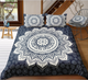 Indian Passion Mandala Flower with Floral Background Duvet Cover Sets