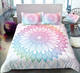 Ethnic Lace Round Ornamental Mandala Flower Duvet Cover Sets