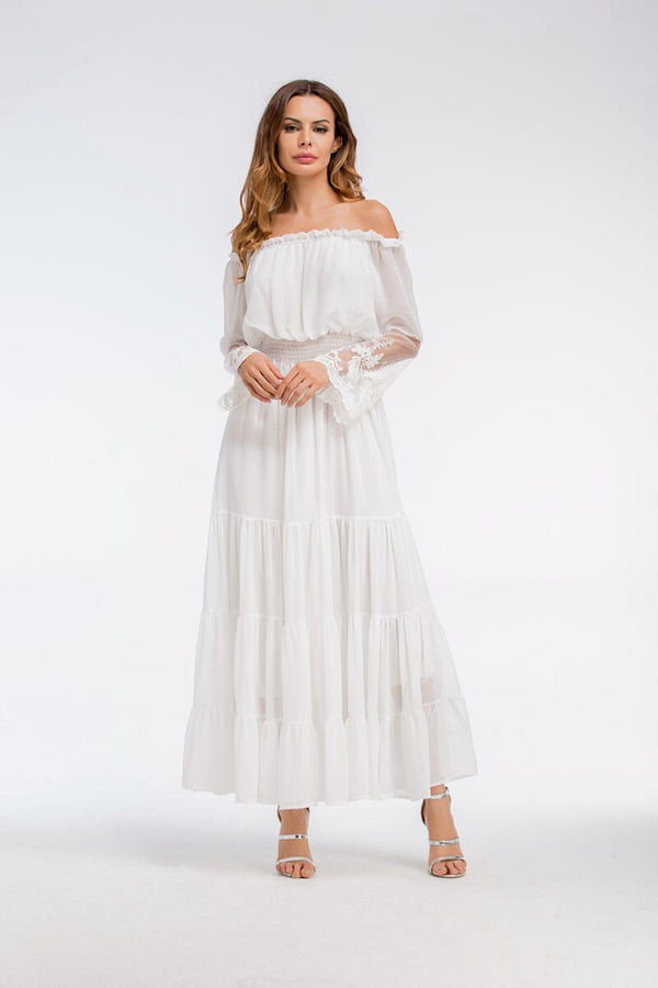 Sexy Off-Shoulder Long Boho Dress