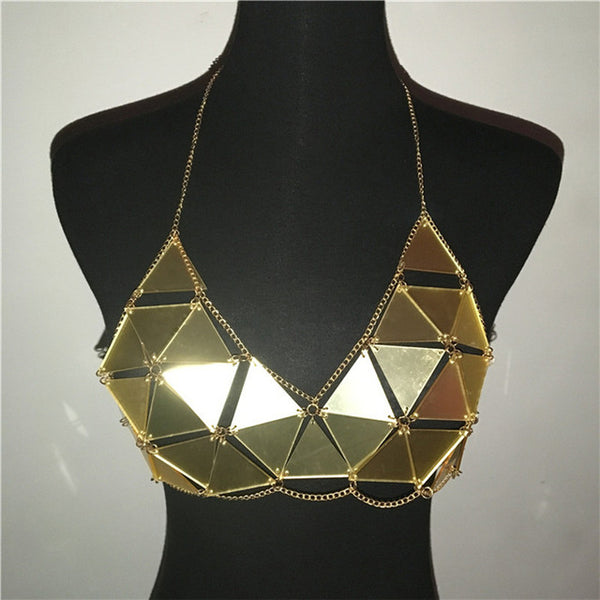 Silver/Gold  Metal Chain Top for Festival - Bohemian Shrine