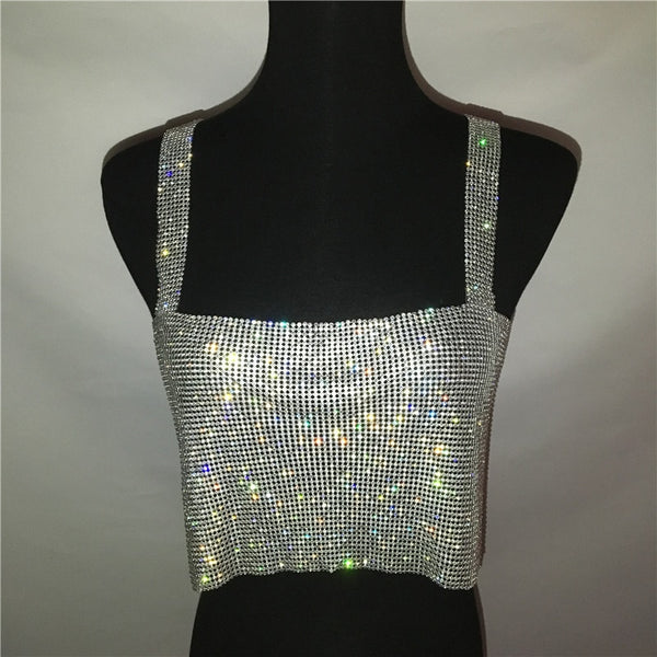 Sparkling Crystal Rhinestones Dress - Bohemian Shrine