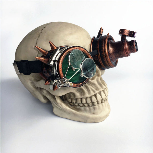 Steampunk Sunglasses Party Gothic Goggles With Light Bulbs And Magnifying Glass - Bohemian Shrine
