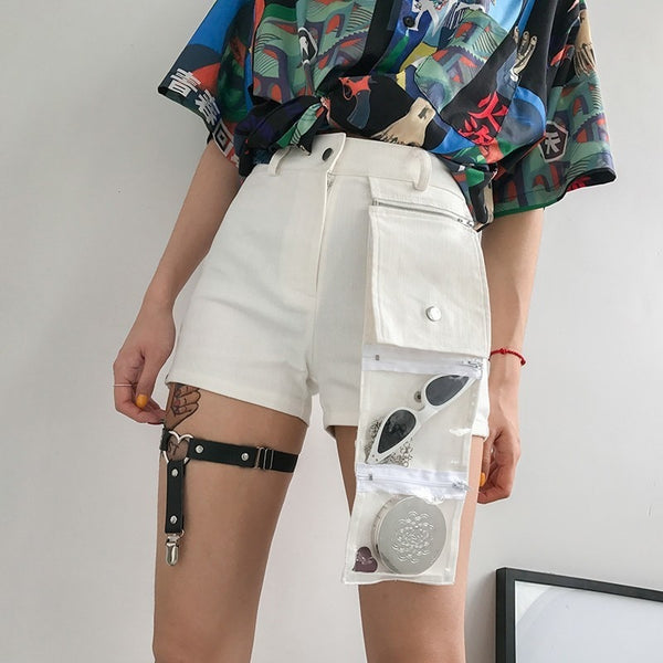 White Denim Shorts - Bohemian Shrine