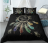 Follow Your Dream Boho Tribal Dreamcatcher And Feathers Duvet Cover Set - Bohemian Shrine