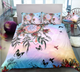 Colorful Dreamcatcher Butterfly Hummingbird Lily Duvet Cover Sets
