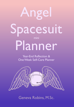 *Digital Download* Angel Spacesuit mini Planner: Year-End Reflection & One Week Self Care Plan