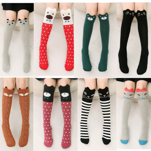 Toddlers, Kids, Girls Knee High Cotton Socks