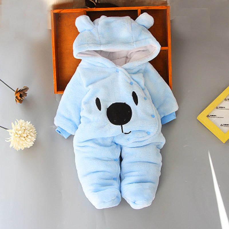 Born Baby Thermal Plain Dyed jumpsuits