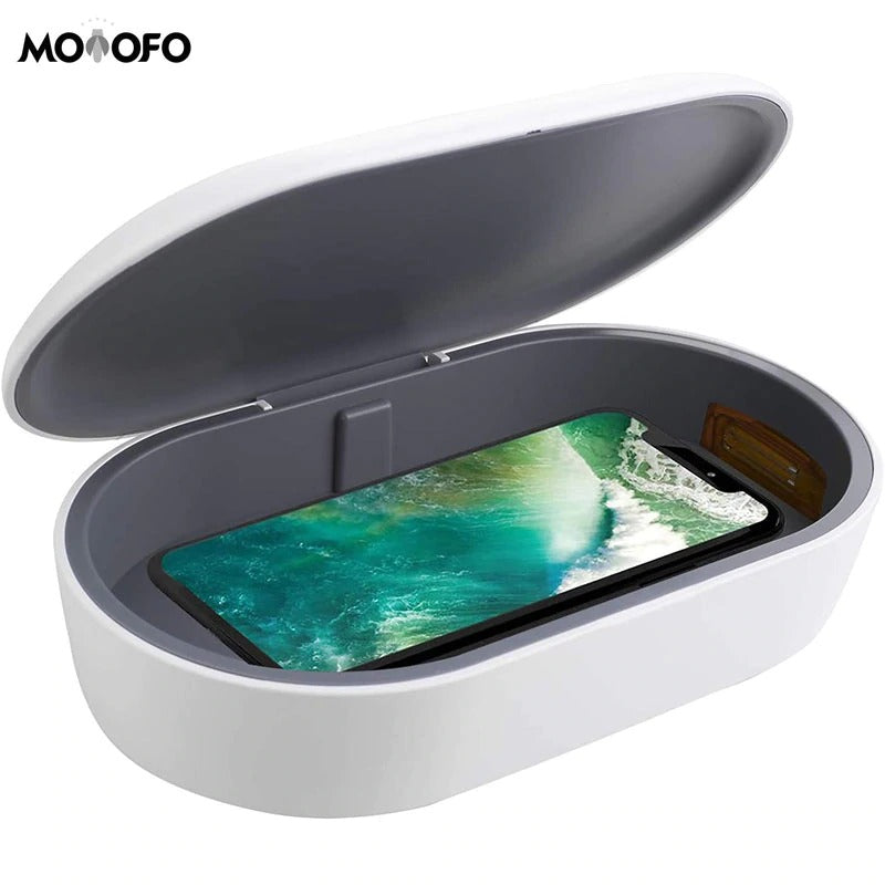 10W Fast Wireless Charger with Phone Sanitizer