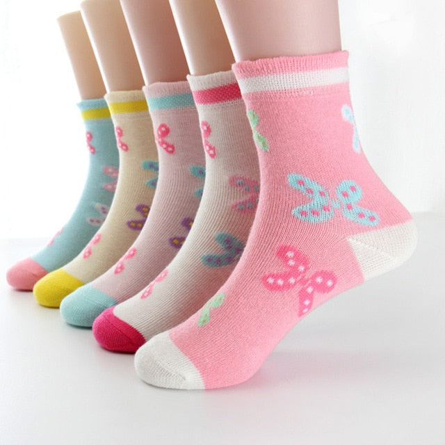 20 pairs/lot  high quality girls socks cotton for girls 3- 12 year