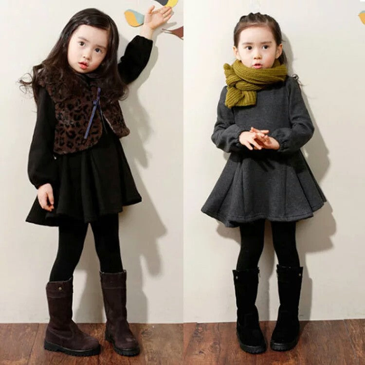 Thicken Girls Warm Cotton Dress