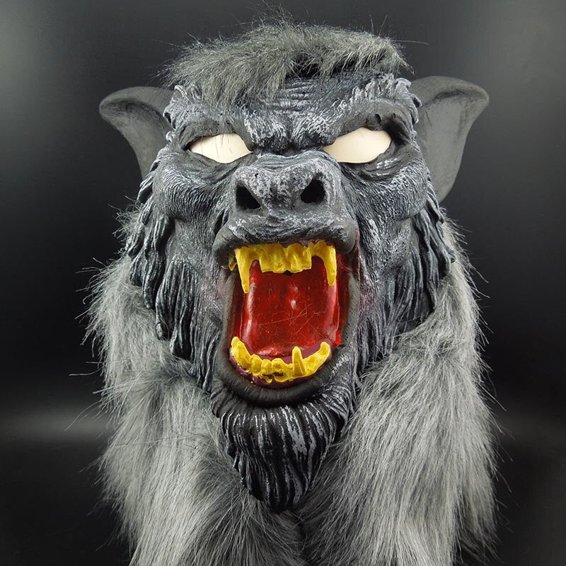 Werewolf Halloween Mask Big Bad Wolf Adult Full Head