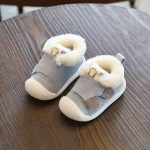 Winter Toddler Boots Warm Plush Snow Boots Soft Bottom Non-Slip
