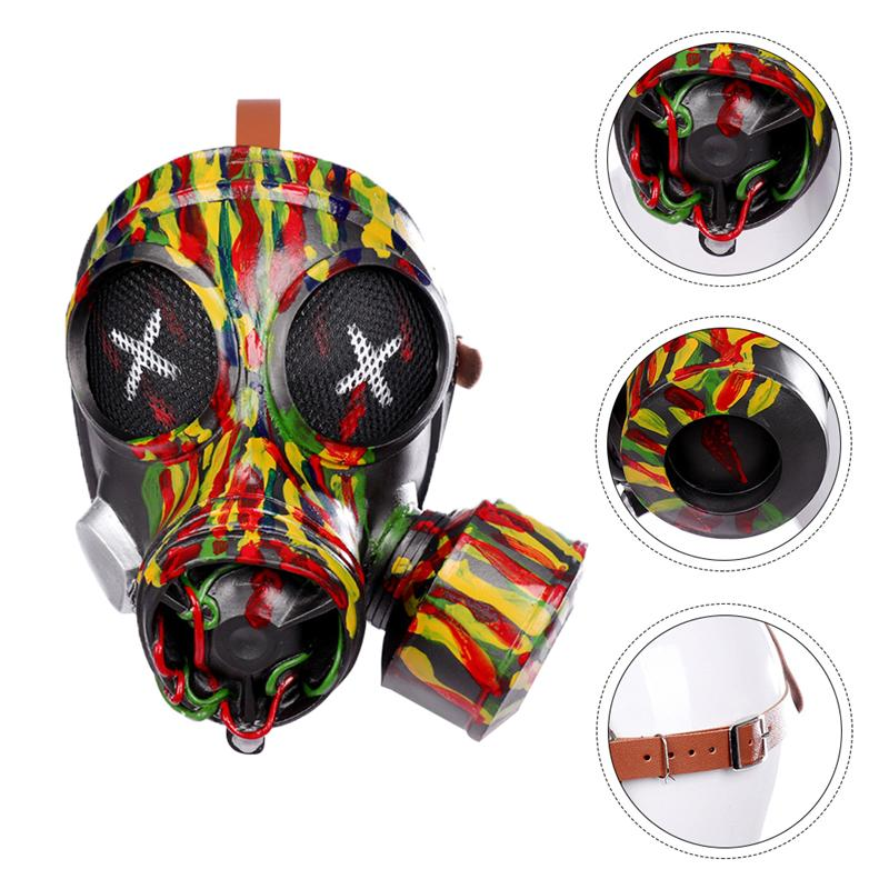 1pc Punk Gas Mask Odorless Durable Creative Scary Mask Halloween Mask Costume Full Face Mask for Party Bar Halloween