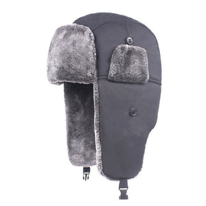 Men Unisex Women Cotton Print Pattern Windproof Warm Thick Waterproof Earmuffs Bomber Hats