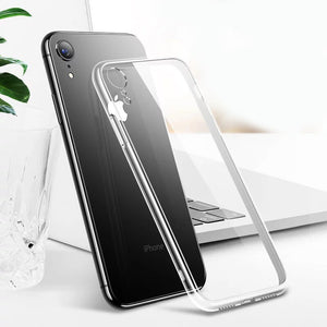Plain Cute Transparent Fitted Phone Case Cover For Apple iPhones Soft TPU Phone Back Cover Cases