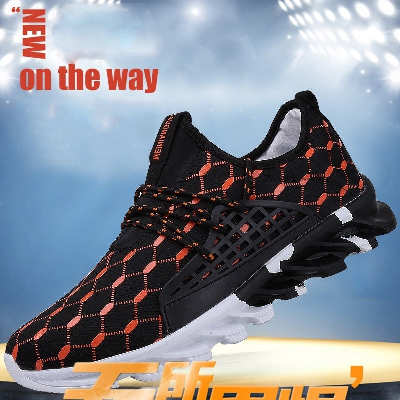 New men's shoes, fashion leisure sports, the trend of outdoor network running shoes, youth campus students running shoes, high q