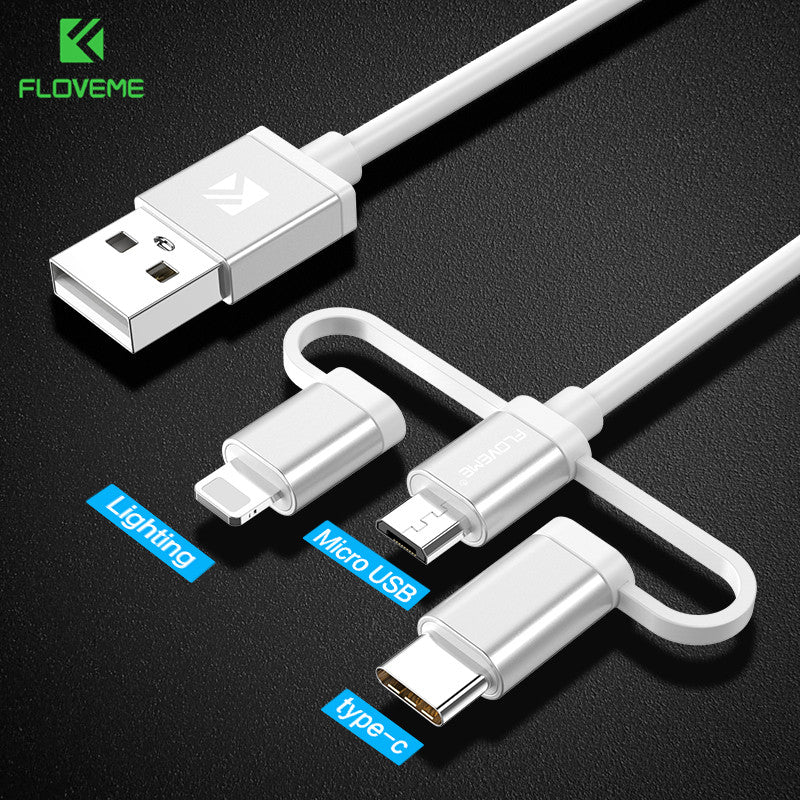 3 in 1 Charging Cable Micro Usb Type C