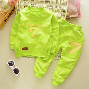 Boys & Girls Clothing Cotton Long Sleeve Letter Sets 2 Pcs/Suit