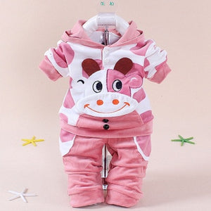 2PCS Baby Girl & Boy Cow Clothing Set