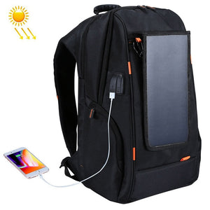 Outdoor Solar Panel Power Travel Backpack with Handle USB Charging Port XA279Z