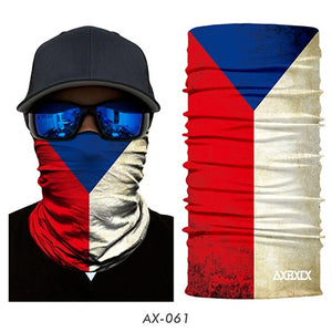 3D National flag Print Scarf Neck Gaiter Bandana